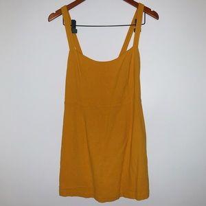 gold simple Free People mini dress | Size S